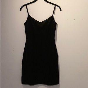 Ralph Lauren black velvet snake skin dress